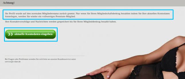 C-date Screenshot Vorheriger Premiumaccount