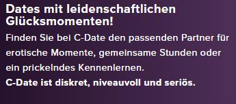 C-date TV-Werbung Screenshot